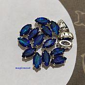 handmade. Livemaster - original item 1pcs Czech rhinestones 10h5mm Bermuda Blue Navette Czech rhinestones in DAC. Handmade.