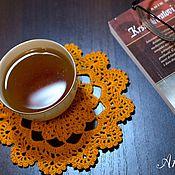 """Для дома и интерьера ручной работы. Ярмарка Мастеров - ручная работа Салфетка ажурная """"Оранжевое настроение"""" (маленькая). Handmade."""