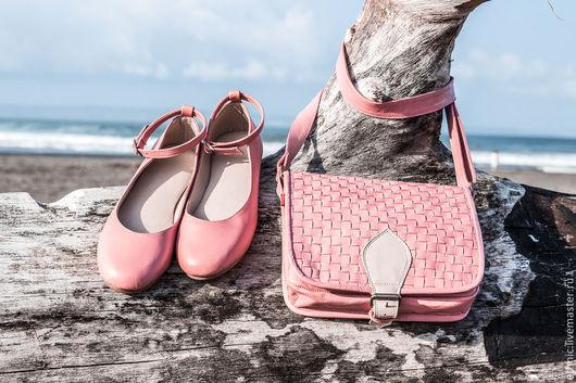Обувь ручной работы. Ярмарка Мастеров - ручная работа. Купить Балетки из натуральной кожи . Балетки кожаные для лета ,  для осени. Handmade.