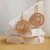 Украшения handmade. Livemaster - original item Eco vintage bamboo earrings the women`s handmade. Handmade.