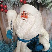 Сувениры и подарки handmade. Livemaster - original item Santa Claus under the Christmas tree made of cotton wool on the old technology of the USSR. Handmade.