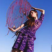 """Одежда ручной работы. Ярмарка Мастеров - ручная работа Платье """"Рябь на озерной воде"""" из мериноса экстрафайн ручной окраски. Handmade."""
