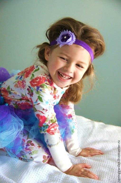 Детская бижутерия ручной работы. Ярмарка Мастеров - ручная работа. Купить Повязка на голову  ФИАЛОЧКА  для девочки. Handmade. Украшение для волос