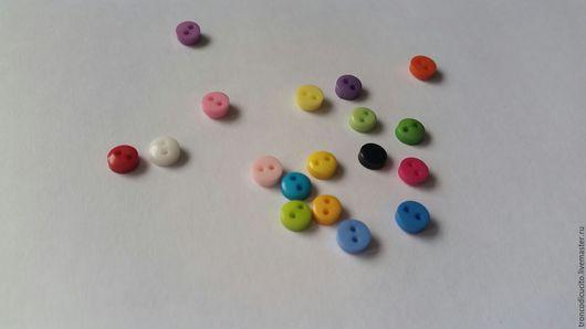 Шитье ручной работы. Ярмарка Мастеров - ручная работа. Купить Пуговицы пластиковые 6 мм (скрапбукинг,тильда,тедди,декор). Handmade.