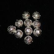 Материалы для творчества handmade. Livemaster - original item Beads, metal, silver, 10mm (10 pieces). Handmade.