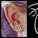 Ювелирные каффы из серебра 925 пробы или Ear cuff от Stepan Vasiliev Jewelry.  Ярмарка мастеров-ручная работа. Купить каффы серебро 925. Каффы серьги ручной работы и подгибается на любое ушко.