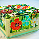 Jewelry box for engagement rings, fusing glass, Box, Odessa,  Фото №1