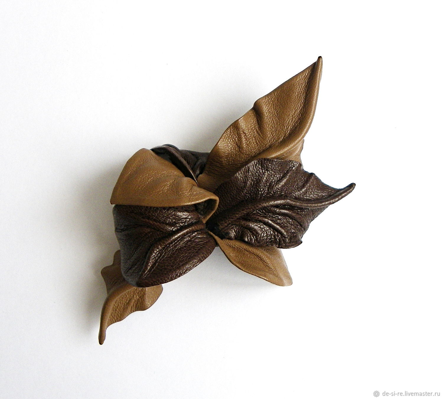 Small brown hazelnut brooch flower nutty chocolate, Brooches, Moscow,  Фото №1