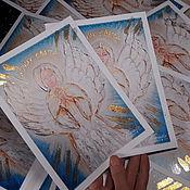 Открытки handmade. Livemaster - original item Cards: Angel Ray Of Light. Handmade.