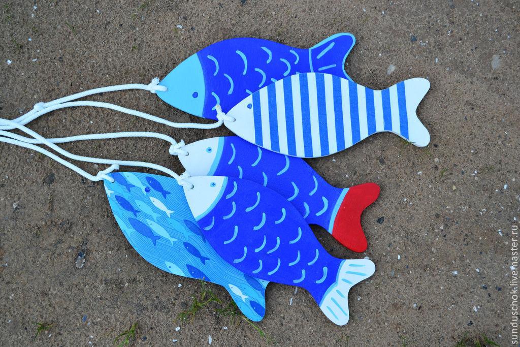 Детская ручной работы. Ярмарка Мастеров - ручная работа. Купить Декоративные рыбки для оформления детской комнаты. Handmade. Рыба