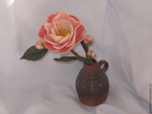 Цветы ручной работы. Ярмарка Мастеров - ручная работа. Купить Интерьерные цветы валяные. Handmade. Шерсть 100%, камелия
