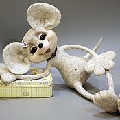 """Куклы и игрушки ручной работы. Ярмарка Мастеров - ручная работа Мышь """"ПОЗИТИВНАЯ НЯШКА"""". Handmade."""