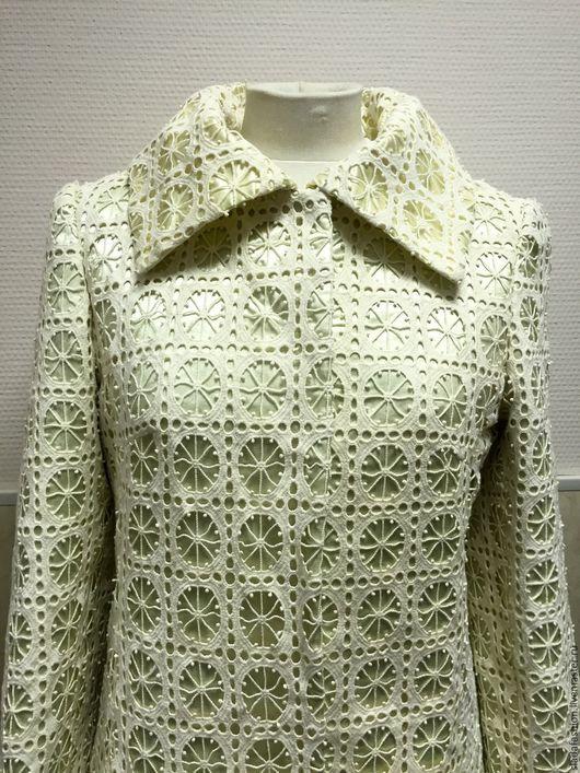 Верхняя одежда ручной работы. Ярмарка Мастеров - ручная работа. Купить Легкое пальто Изящный век. Handmade. Бежевый