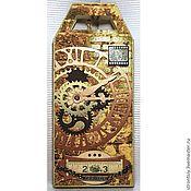 """Открытки ручной работы. Ярмарка Мастеров - ручная работа """"Часовой механизм"""" мужская шоколадница часы киберпанк. Handmade."""