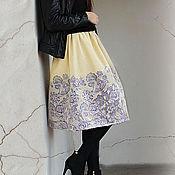 Одежда ручной работы. Ярмарка Мастеров - ручная работа юбка из купонной ткани-2.. Handmade.