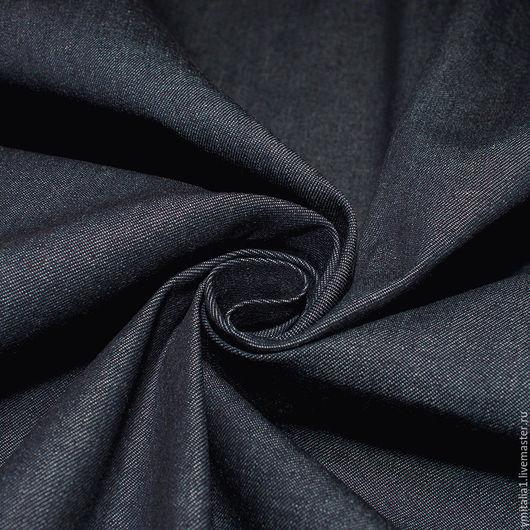 Шитье ручной работы. Ярмарка Мастеров - ручная работа. Купить Джинсовая ткань  индиго  DSQUARED2. Handmade. Тёмно-синий