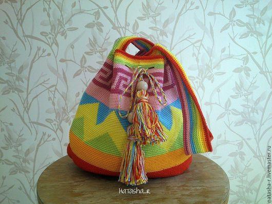 """Женские сумки ручной работы. Ярмарка Мастеров - ручная работа. Купить Сумка-мешок вязаная """" Мочила"""". Handmade."""