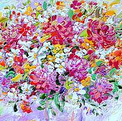 """Картины и панно ручной работы. Ярмарка Мастеров - ручная работа """"Бело-Розовый Восторг"""" картина букет цветов маслом на холсте. Handmade."""