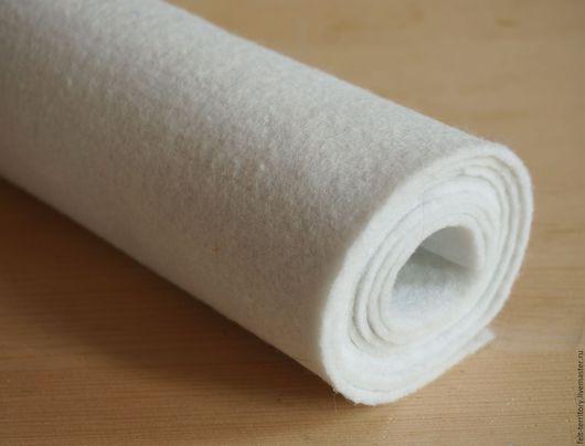 Валяние ручной работы. Ярмарка Мастеров - ручная работа. Купить Фетр рулонный белый. Handmade. Белый, фетр, фетр для творчества