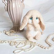 Куклы и игрушки handmade. Livemaster - original item Pink elephant toy from wool. Handmade.