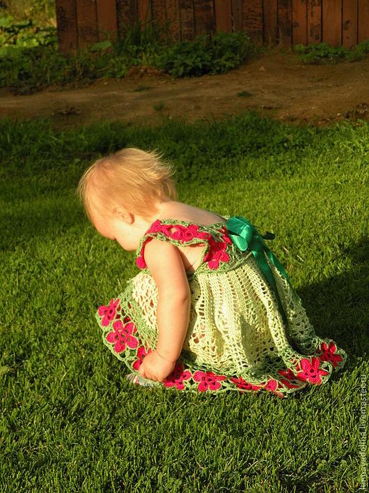 Одежда для девочек, ручной работы. Ярмарка Мастеров - ручная работа. Купить Детское платье на возраст 1-2 года. Handmade.