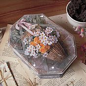 """Для дома и интерьера ручной работы. Ярмарка Мастеров - ручная работа """"В воздухе пахло цветами и медом""""- короб. Handmade."""