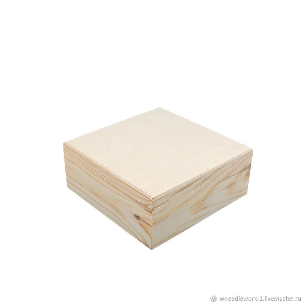 Деревянный короб сосна 20 x 20 x 9 см, Коробки, Москва,  Фото №1