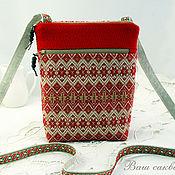 Сумки и аксессуары handmade. Livemaster - original item Phone bag, Slavic style, document Bag. Handmade.