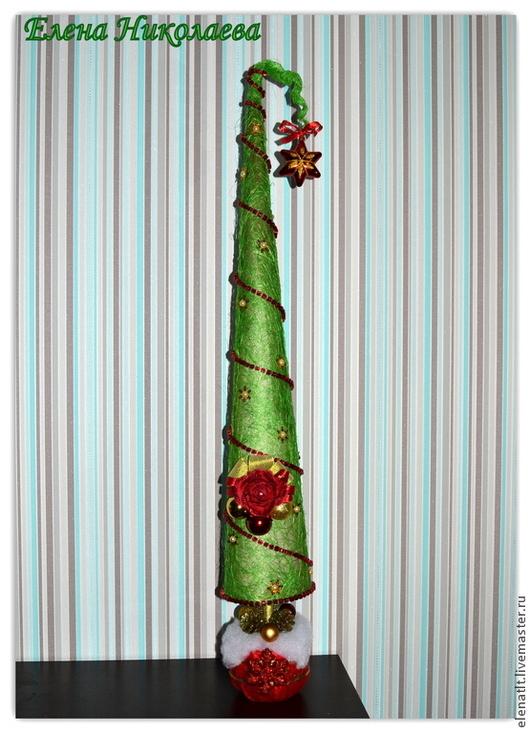Интерьерные композиции ручной работы. Ярмарка Мастеров - ручная работа. Купить Новогодняя елочка из сизаля. Сделаю на заказ.. Handmade.