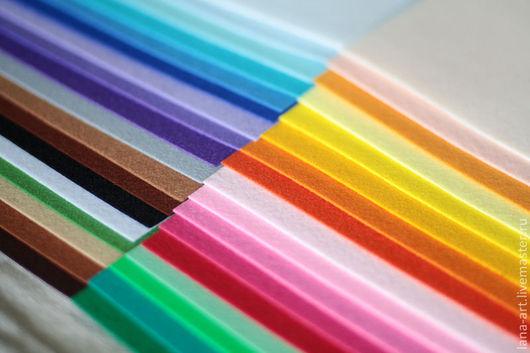 Валяние ручной работы. Ярмарка Мастеров - ручная работа. Купить Корейский фетр 36 цветов 30х22 набор. Handmade.