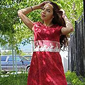 """Одежда ручной работы. Ярмарка Мастеров - ручная работа Валяное платье """"Ягода...!"""". Handmade."""