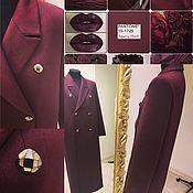 Одежда ручной работы. Ярмарка Мастеров - ручная работа Классическое пальто из кашемира,в модном цвете 2018 года.. Handmade.