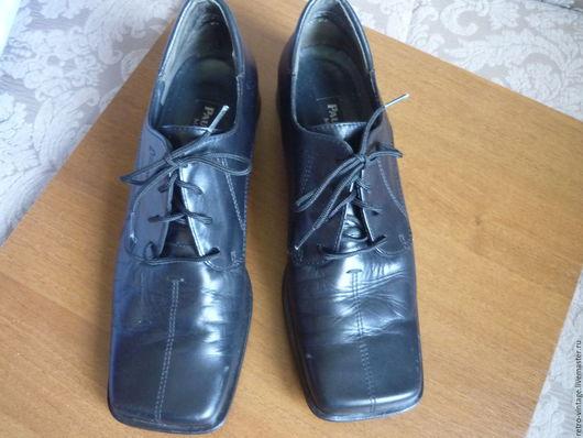 Винтажная обувь. Ярмарка Мастеров - ручная работа. Купить Туфли , Австрия.. Handmade. Черный, женская обувь