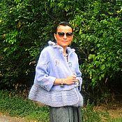 Одежда ручной работы. Ярмарка Мастеров - ручная работа Жакет-пальто с вышивкой и вязаными элементами (№352). Handmade.