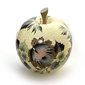 """Шкатулки ручной работы. Ярмарка Мастеров - ручная работа Шкатулка в форме яблока """"Очарование графита"""". Handmade."""