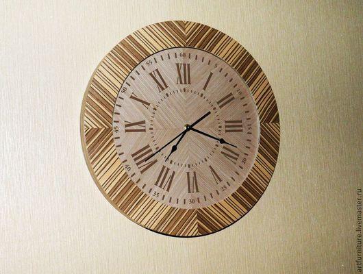 Часы для дома ручной работы. Ярмарка Мастеров - ручная работа. Купить Часы настенные деревянные круглые со стеклом - подарок для дома. Handmade.