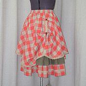 Одежда ручной работы. Ярмарка Мастеров - ручная работа № 153 Льняная юбка бохо. Handmade.