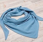 Аксессуары handmade. Livemaster - original item Blue sky scarf made of 100% Merino.. Handmade.