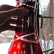 Винтаж ручной работы. Ярмарка Мастеров - ручная работа Старинная рубиновая ваза 19,7 см Эгерманн 1930-е. Handmade.