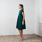Одежда handmade. Livemaster - original item Dark green felted dress. Handmade.