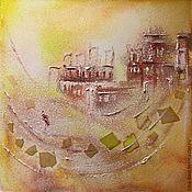 Картины и панно handmade. Livemaster - original item Painting Alchemist in yellow and lemon shades in the style of symbolism. Handmade.