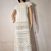 handmade. Livemaster - original item Crochet dress Ester. White maxi handmade wedding or evening dress. Handmade.