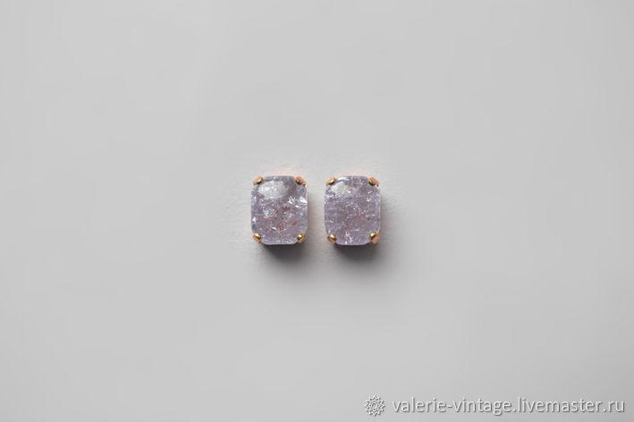 Vintage rhinestones 10h8 mm color Light Amethyst Crackle, Rhinestones, Moscow,  Фото №1