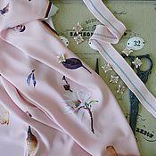 Ткани ручной работы. Ярмарка Мастеров - ручная работа Ткань креп с эластаном. Handmade.