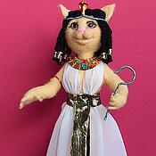 Куклы и игрушки ручной работы. Ярмарка Мастеров - ручная работа Валяная Кошка Клеопатра. Handmade.