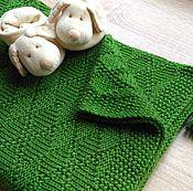 Пледы ручной работы. Ярмарка Мастеров - ручная работа Детский плед вязаный Green. Handmade.