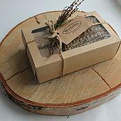 Сувениры и подарки ручной работы. Ярмарка Мастеров - ручная работа Набор подарочный № 1: мочалка, мыло, коробка.. Handmade.