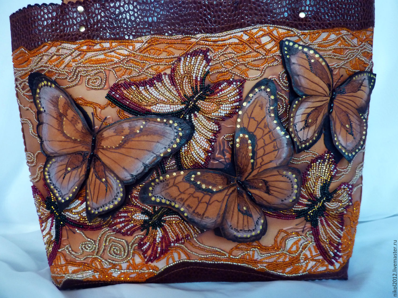 Рисунок бабочки на сумке