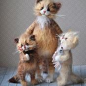 Куклы и игрушки handmade. Livemaster - original item her mom knitted cat. Handmade.