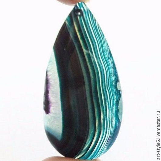 Для украшений ручной работы. Ярмарка Мастеров - ручная работа. Купить Агат кабошон. (срез)  M0113915. Handmade. Драгоценный камень